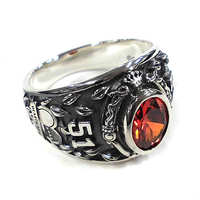 Ring - Twisted Wonderland / Silver & Heartslabyul Size-13